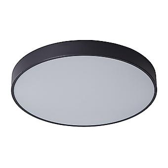 Moderne LED Flush Plafond Licht Zwart, Warm Wit 3000K 3600lm