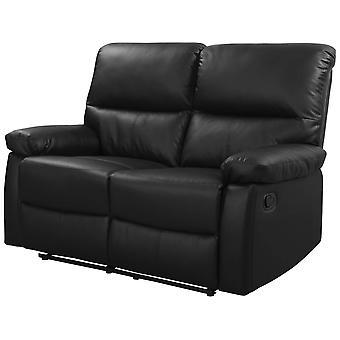 Sof reclinado 2 plazas - Color negro