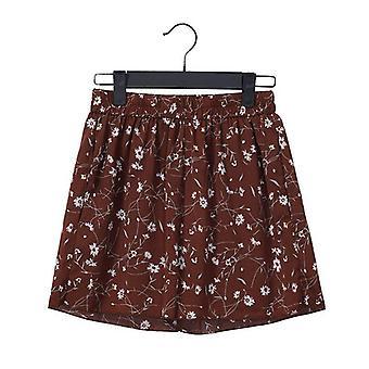 Loose Boho Floral Casual Women Chiffon Shorts Polka Dot Summer Shorts
