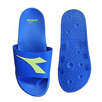 Diadora Crawl Mens Slide Flip Flop Sandals Slider Blue Yellow Summer Beach C7336