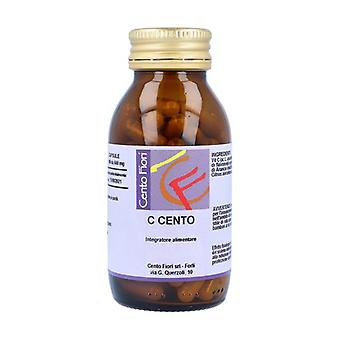 One Hundred 100 vegetable capsules of 600mg