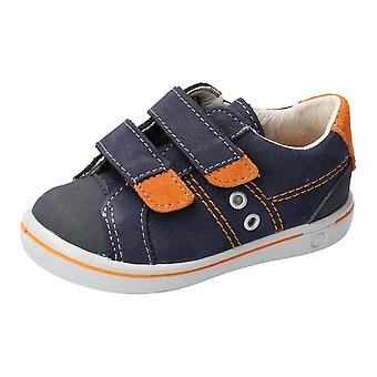 RICOSTA Double Velcro Fashion Trainer Blue And Orange