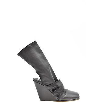 Rick Owens Ezbc436005 Women's Black Leather Ankle Boots