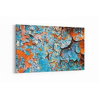 Schilderij - Oude abstracte achtergrond van de gebarsten verf — 90x60cm