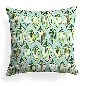 """Peas In A Pod Printed Woven Square Pillow 18"""" X 18"""""""