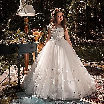 Kids Pageant Evening Gowns Lace Ball Flower Dresses For Weddings
