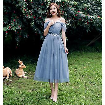 المرأة الصيف A-خط الركبة طول، أنيقة شبكة اللباس