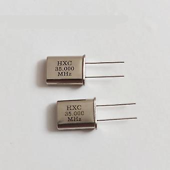 10pcs 49u Quartz Crystal 35m 35.000mhz Hc-49u Crystal Resonator