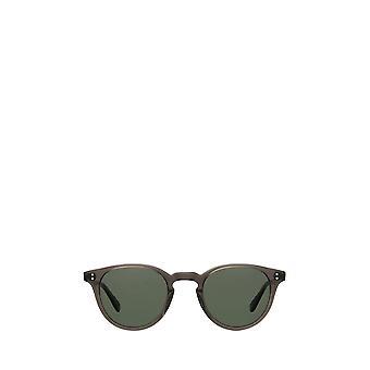 Garrett Leight CLEMENT SUN black glass unisex sunglasses