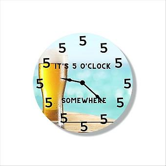 Beer Themed Clock Imagery