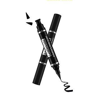 Black Liquid Eyeliner Stamp Marker Pencil, Waterproof Stamp Double-ended Eye