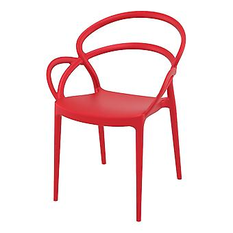 Fusion Living Stackable Plastic Armchair Available In Various Colours