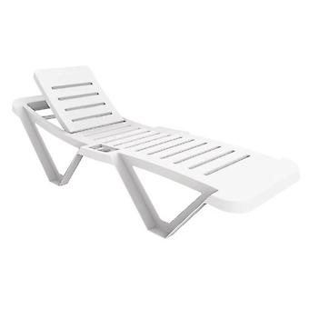 Sanobi White Garden Sun Lounger Recliners Pack Of 2