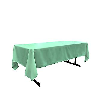 Mantel rectangular Poplin de poliéster de lino de 60 por 144 pulgadas, menta