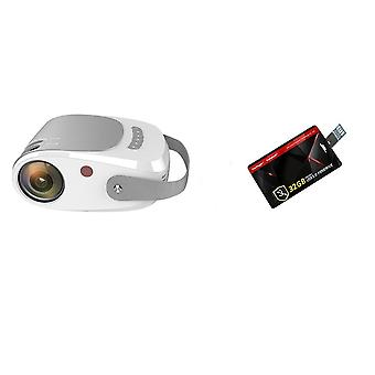 Mini Hd Projector 1280x720p Led Video Portable Beamer Home Theater Cinema Usb