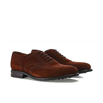 Loake Suede Oxford Brogues