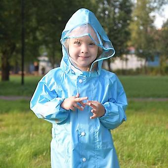 Fashionabla Vattentät Jumpsuit Raincoat Hooded Cartoon Kids One-piece Gear