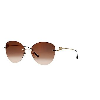 Cartier CT0269S 002 Gold/Brown Gradient Sunglasses