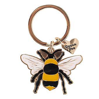 Algo diferente Queen Bee Esmalte Keyring