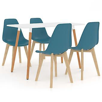 5 Piece Dining Set Turquoise