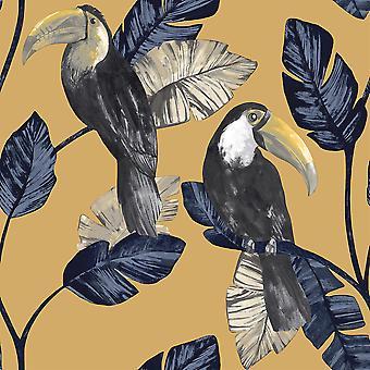 Toucan Trail Ochre Wallpaper