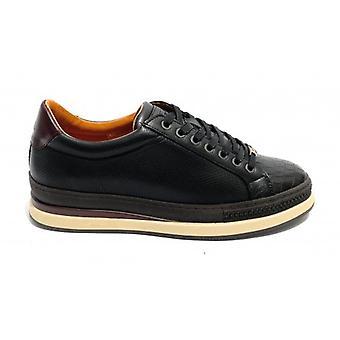 حذاء للرجال حذاء طموح حذاء رياضي 10519a الجلود لون أسود U21am02