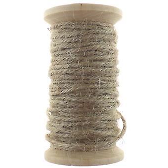 Jute Rope Wooden Spool Natural No.02