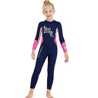 الأطفال wetsuit طويلة الأكمام قطعة واحدة الأشعة فوق البنفسجية حماية ملابس السباحة الحرارية dfse-24