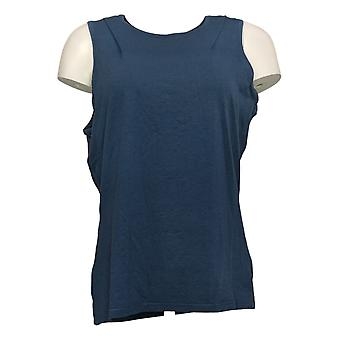 Anybody Women's Top Regular Crew Neck Tank Blue A377738