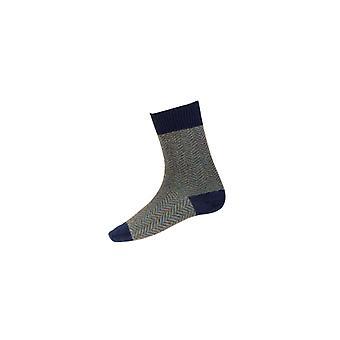 Huset cheviot herrer sildbein korte sokker ~ Marine