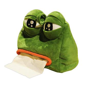 Frog Paper Box Cover Funny Frog Tissue Box Plush Cover