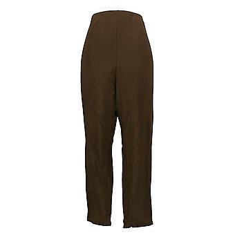 Susan Graver Women's Petite Pants Lustra Knit Brown A240112