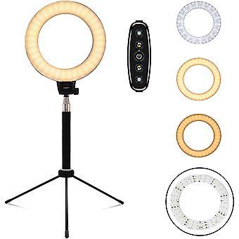 FengChun Ringleuchte 6 Zoll Ringlicht 10W Dimmbar Tisch USB LED-Leuchtmittel 3200K-6500K