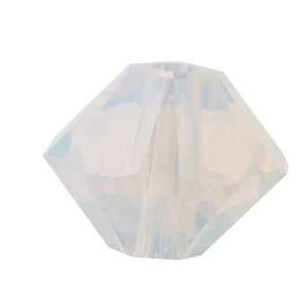 سواروفسكي كريستال، #5328 بيكون الخرز 3mm، 25 قطعة، أوبال الأبيض