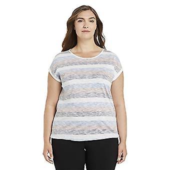 TOM TAILOR MY TRUE ME 1025538 Plussize Striped T-Shirt, Multicolored Blue Stripes, 54 Women
