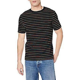 Scotch & Soda Crewneck Tee with Multicoloured Stripe Pattern T-Shirt, Multicolored (Combo B 0218), Small Man