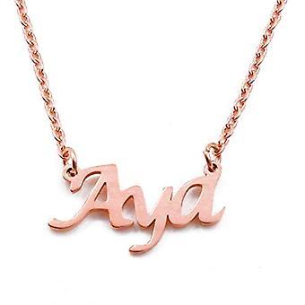 KL Kigu Aya - Naisten kaulakoru nimi, ruusukulta, nimi, muodikas, lahja tyttöystävälle, äidille, siskolle