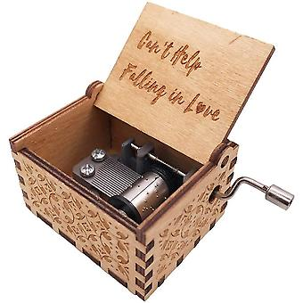 FengChun Mini Musik Box 18 Note Hand Kurbel graviert Holz Musik Box für Kinder (kann nicht helfen fallen in