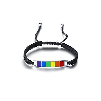 Lgbt regnbue stolthet vevd armbånd homofil lesbisk smykker håndstropp