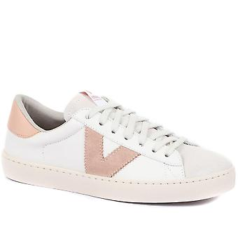 Victoria Womens Berlin Lederen Lace-Up Trainers