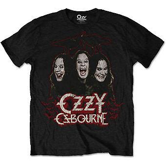 Ozzy Osbourne - Crows & Bars Men's Large T-Shirt - Black