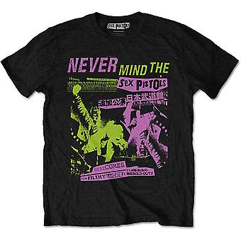 The Sex Pistols - Póster Japonés Camiseta Unisex Grande - Negro