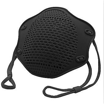 2Kpl musta kn95 suoja maski elintarvikelaatuinen silikoni naamio viisikerroksinen suodatin pölysuojamaski az10914