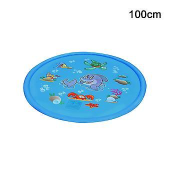 Los niños agua salpicaduras jugar estera inflable spray cojín de agua (100)
