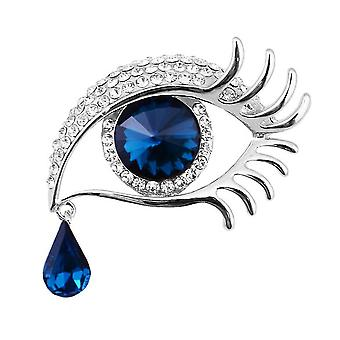 Ladies Brooch Tears Of Angel Long Eyelashes Corsage Rhinestone Inlaid Brooch Pin