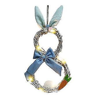 Easter Decorations With Lights Decorative Rattan Rings Wreaths Window Decorations Pendants
