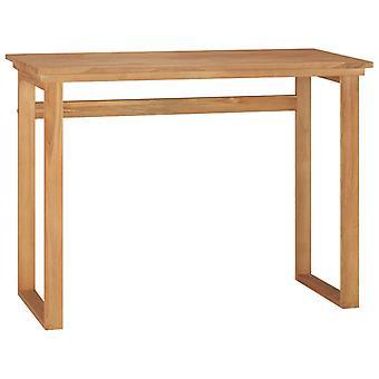 vidaXL skrivebord 100x45x75 cm massivt træ teak