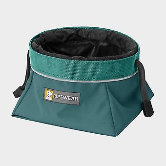 New Ruffwear Quencher Cinch Top Packable Dog Bowl Blue
