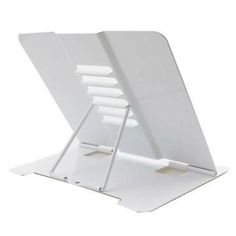 (White) Foldable Adjustable Desk Organizer Recipe Display Notebook Book Stand Holder
