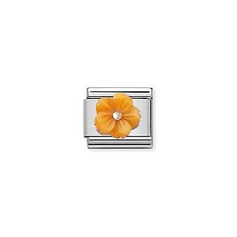 Nomination italy composable link orange flower  430510_05
